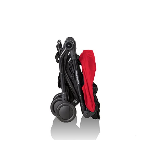 """Mountain Buggy Nano V2-5, Ruby Red Mountain Buggy Infant car seat ready, no need to purchase additional adapters and now has a soft shell cocoon carrycot available (sold separately) for new-borns New, narrower compact size at just 12"""" x 22"""" x 20"""" (folded) with 44 lb. weight capacity and suitable for children up to 4 years Easy two-step, compact fold 2"""