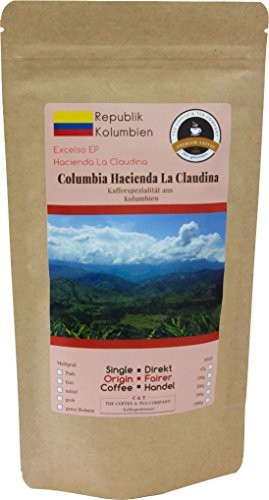 Kaffee Globetrotter - Kaffee Mit Herz - Colombia Hacienda La Claudina - 1000 g Ganze Bohne - für...
