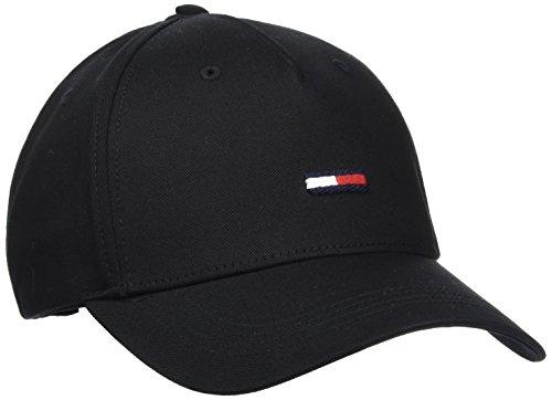 tommy-hilfiger-mens-thd-flag-baseball-cap-black-black-002-one-size-manufacturer-size-os