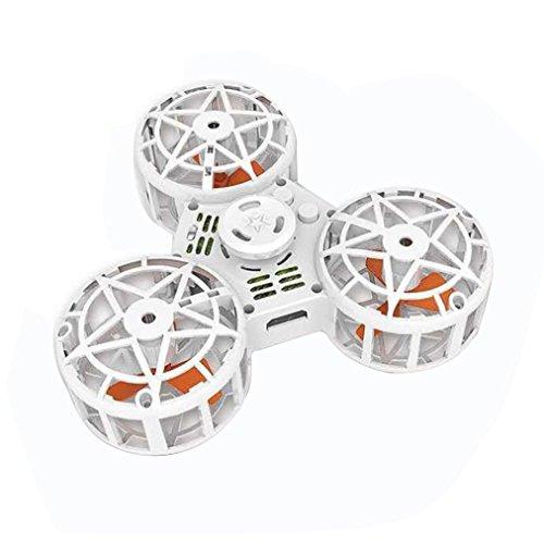 Fidget Jouet, Fidget Voler Fidget Spinner Anti-Anxiété ADHD Relieving Réducteur en Plein Air Interactive Fidget Rotation Triangle Jouets Drôle Drone Jeux Interactifs pour Enfants Adultes (Blanc)