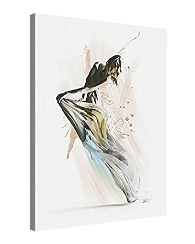 Canvas Print Wall Art – DANCER – 75x100cm Stretched Canvas Framed On A Wooden Frame – Contemporary Art Canvas Printing – Hanging Wall Deco Picture By Gallery Of Innovative Art
