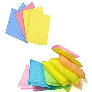 Ziesha Super Saver large Sponge Wipe Cleaning multi Combo (Assorted Colours, Pack of - 10)
