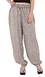 Skirts & Scarves Womens Rayon Casual Harem Pant(PA-932_Grey_Free Size)