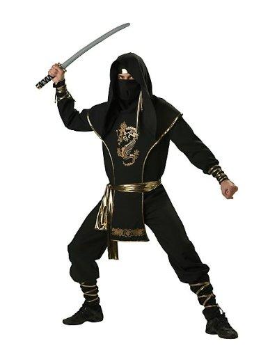 Incharacter in Charakter Kostüme LLC Ninja Warrior Set schwarz/gold (Incharacter Kostüme Llc)