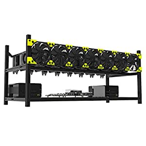 Professional 8 GPU Aluminum Stackable Mining Case Rig Open Air Frame For Ethereum(ETH)/ETC/ ZCash Excellent air convection design to improve GPU performance and life(without fans)