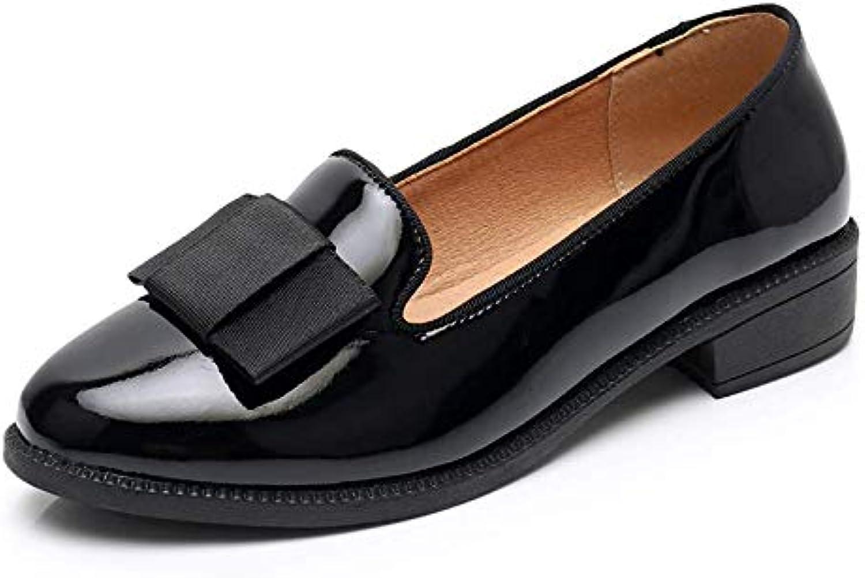 FLYRCX Scarpe Basse in Pelle Bocca Poco Profonde da Donna, Scarpe da Lavoro Casual, Scarpe in Pelle, 40 EU, Nero | Commercio All'ingrosso  | Scolaro/Ragazze Scarpa
