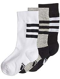 Adidas LK PL Socks 3PP Calcetines, Unisex Adulto, Gris (brgrin/Blanco/