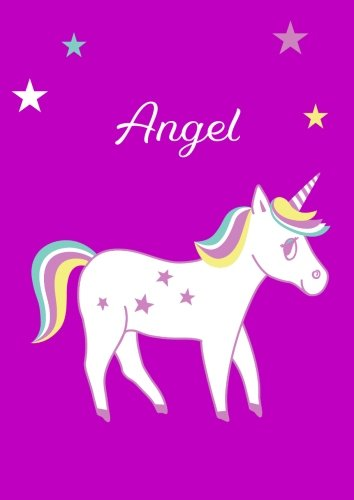 Angel: Unicorn Notebook/Coloring Book/Diary - DIN A4 - blank