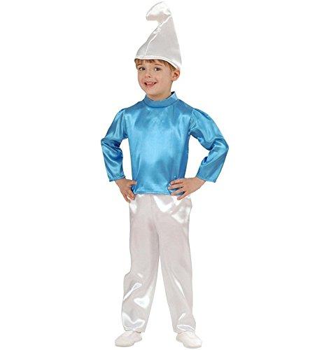 Kostüm Karneval Kostüm Kind Nano blau Schlumpf * 19955., mehrfarbig (Jungen Kostüme Schlümpfe)