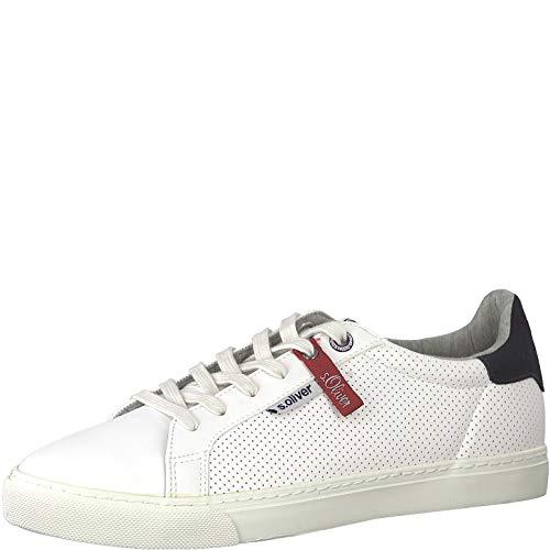 s.Oliver Herren Skater Sneaker 13630-22,Männer Sportschuh,Low-Top,White,44 EU