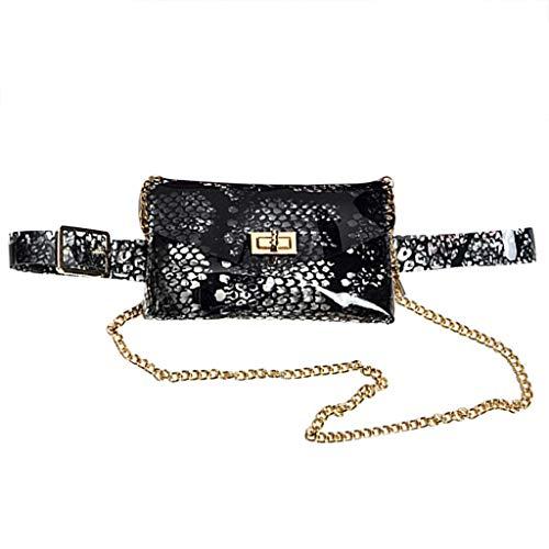 Clode Donne Waist Pack Serpentine Fanny Pack Pelle Pelle Snake Pelle Cintura Cintura Cintura