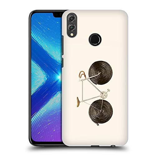 Head Case Designs Offizielle Florent Bodart Lakritz Bike Räder Harte Rueckseiten Huelle kompatibel mit Huawei Honor 8X / View 10 Lite -
