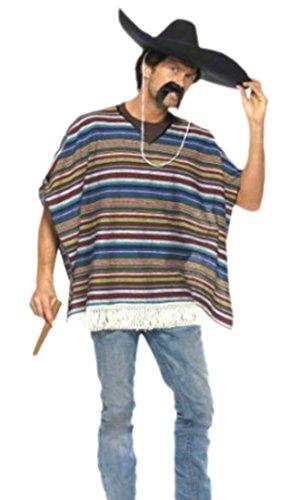 erdbeerloft-Herren-Mexikaner-Kostm-Fransen-Poncho-Karneval-M-Mehrfarbig