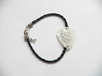 GAME OF THRONES GOT STARK guitar pick plectrum leather twist braid Bracelet 8""