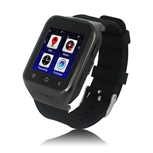 shenzhen PGD co.,ltd ZGPAX S8 Android 4.4 Dual Core Smart Watch Phone,1.54inch LG Multi-point Touch Screen,3G WCDMA,Bluetooth 4.0,Bulit-in GPS,2M Camera (Schwarz)