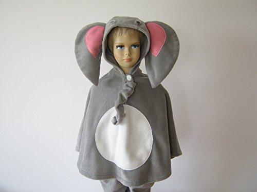 fasching karneval halloween kostüm cape für kleinkinder elefant