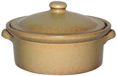 Amazing Cookware Cocotte en terre cuite avec couvercle Crème 1l