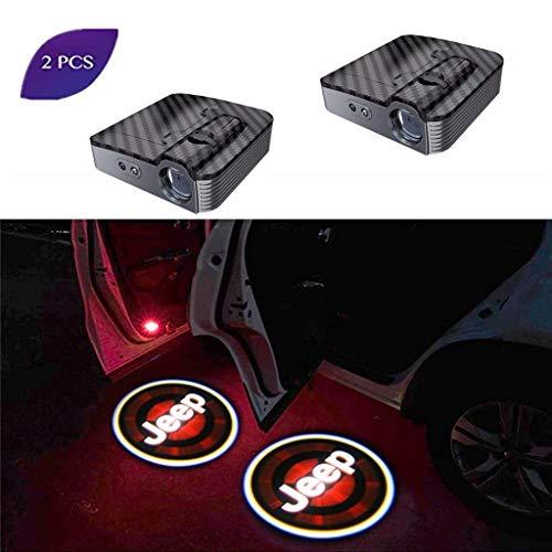 LED benvenuto illuminazione,2 PCS Wireless Universale Proiettore LED Porta Fantasma Luce Ombra Luce Benvenuto Emblema Laser Logo Luci di cortesia Lampade