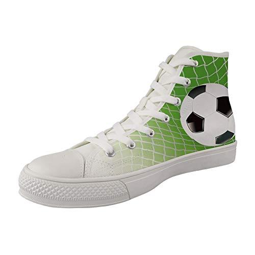 MODEGA Fußball Druck hohe Schuhe Frauen Fußball Druck-Segeltuchschuhe für Mädchen kühlen Laufschuhe für Mädchen Fußball Druck