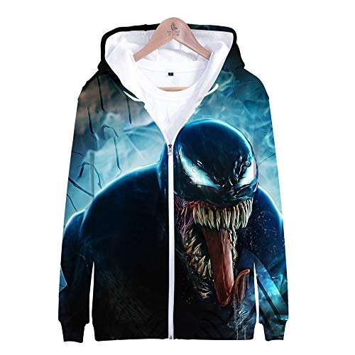 Kostüm Cosplay Iron Fist - Dwygx Unisex Hd 3D Druck Anime Printingsweatshirts Hooded Fashion Freizeitjacke Coat Cardigan Iron Fist Sweatshirt S