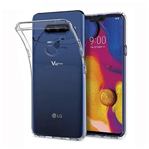 Prime Retail Transparent Soft Rubber Back Cover for LG V40 ThinQ (Transparent)