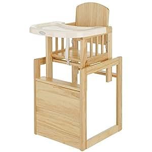 obaby cube chaise haute en bois naturel b b s pu riculture. Black Bedroom Furniture Sets. Home Design Ideas