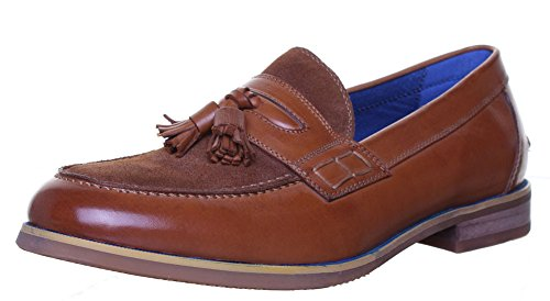Reece Justin-dérapant à franges style Loafer Taille 6 à 12 Brown N12