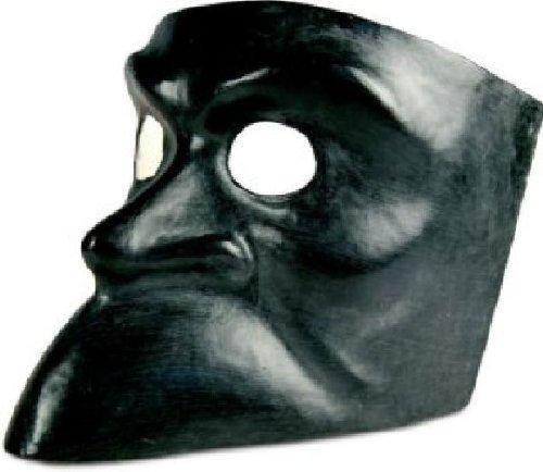 Venezianische Maske Bauta nera in schwarz zu Karneval (Kostüme Colombina Dellarte Commedia)