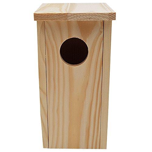 PROHEIM Nistkasten Compact 4er Pack 22 x 9 x 10 cm aus FSC Holz Nisthaus perfekt für Meisen Kohlmeisen Kleiber Rotschwänzchen und weitere Vogelarten Vogelnistkasten - 3