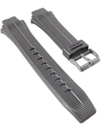 Replacement Band Watch Band plastic Strap black leather Special Abutting for Calypso K5627/all, colours:gray