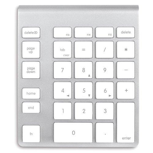 NewerTech Wireless Aluminum Keypad ワイヤレス アルミニウム キーパッド シルバーホワイト