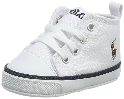 Ralph Lauren Unisex Baby Hamptyn Hi Layette Sneaker, White (White), 17 EU (Ralph Lauren Polo Hausschuhe)