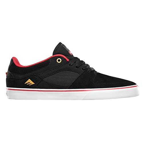EMERICA Skateboard Shoes HSU LOW VULC CHOCOLATE BLACK/RED/WHITE Black/Red/White