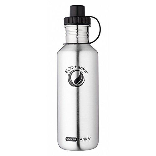 ECOtanka, trekka Tanka mit Sport-Verschluss, 1000ml, 1l – Edelstahl-Sporttrinkflasche, ökologisch, Nachhaltig, Langlebig – Die Flasche für Dein aktives Leben