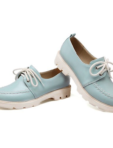 ZQ Scarpe Donna - Stringate - Casual - Punta arrotondata - Basso - Finta pelle - Blu / Rosa / Beige , pink-us8 / eu39 / uk6 / cn39 , pink-us8 / eu39 / uk6 / cn39 light blue-us5.5 / eu36 / uk3.5 / cn35