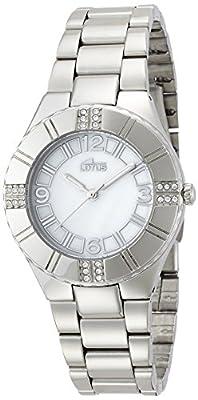 Lotus 15905/1 - Reloj de cuarzo para mujer, correa de acero inoxidable color plateado