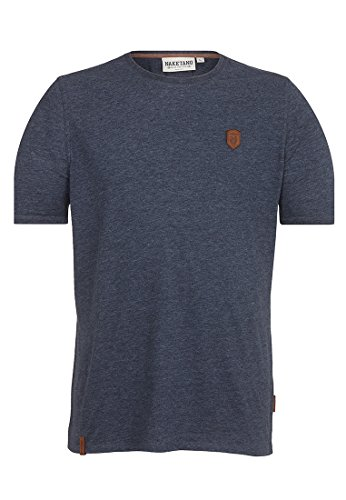 Naketano Male T-Shirt Italienischer Hengst Indigo Blue Melange, XXXL