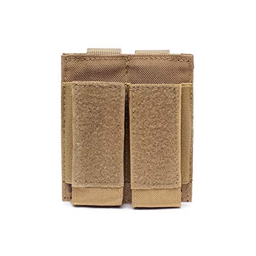 Leezo Jagdpistole Magazintasche Doppelte Taschenlampenhülle Airsoft-Munitionstasche Paintball-Spiel-Zubehör, Aufbewahrung für Walkie-Talkie-Taschen, Jagd