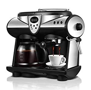 YAHAHO Coffee Machine Commercial Household Automatic Steam Milk Machine Coffee Pot Coffee Grinder Coffee Container