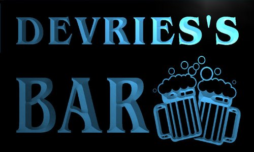 cartel-luminoso-w002567-b-devries-name-home-bar-pub-beer-mugs-cheers-neon-light-sign