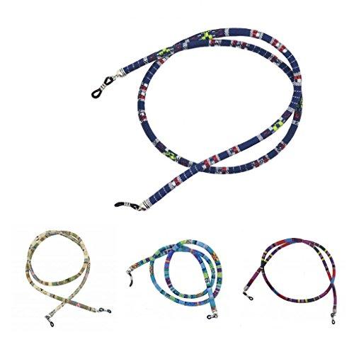 Sharplace 4pcs Cordon de Lunettes Dessins Décoratifs en Coton Chaînes pour Lunettes de Soleil Lecture Sport Antidérapant