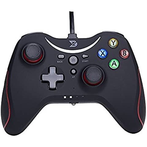 ZD T Gaming USB con cable controlador gamepad Mando para PC (Windows XP / 7 / 8 / 8.1 / 10) & PlayStation 3 & Android & Steam - No apoyo la Xbox 360 /