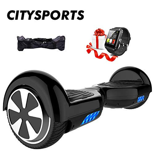CITYSPORTS Hoverboard 6,5 Zoll + Hoverkart, Balance Board Smart Roller 2x350W mit LED