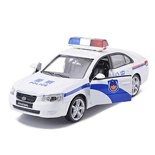 Luccky Lega leggera Simulazione Modello di auto Macchina della polizia Apri doppia porta Giocattoli per bambini Ragazzo Giocattolo con suono leggero Forte Tirare indietro Giocattolo Car Bauble Decoraz