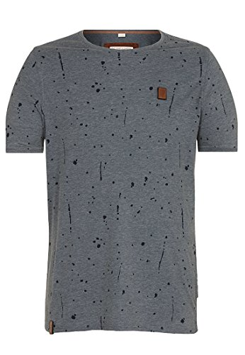 Naketano Male T-Shirt What's the 411 Heritage Dark Ash Melange, M