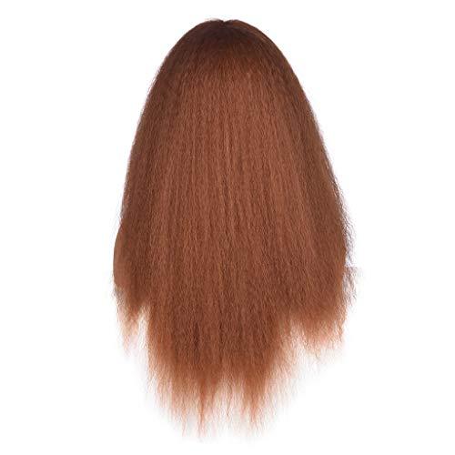 Barlingrock Europäische Und Amerikanische Perücke Kopfbedeckung Schwarze Perücke Kopfbedeckung Explosive Kopf Flauschige Hochwertige Sexy Weibliche Lange Mischfarbe Gebogene - Weibliche Disney Kostüm