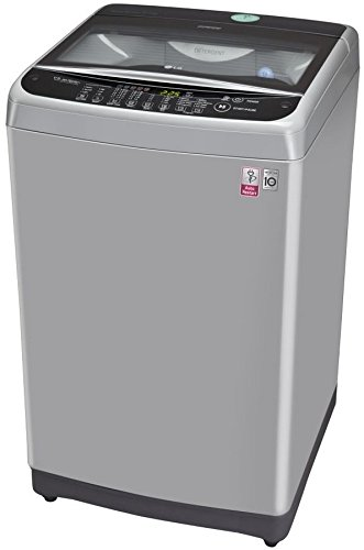 LG 8 kg Fully-Automatic Top Loading Washing Machine (T9077NEDL1, Free Silver)