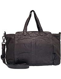 9d57ed45872e6 Voi Aktentasche 21102 Leder Damen Businesstasche Schultertasche elegante  Handtasche aus Soft Leder in Schwarz