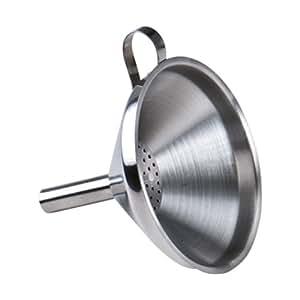 Westmark Flaschentrichter mit herausnehmbarem Sieb, Einfüllstutzen-Durchmesser: 1,3 - 4 cm, Rostfreier Edelstahl, Silber, 12462270