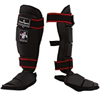 TurnerMAX Boxen Schienbeinschützer Shin Instep Pads Kickboxen Schutzausrüstung Bein Schützer Kampfsport MMA